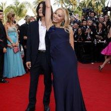 Ornella Muti a Cannes 2010 con suo figlio Andrea Fachinetti