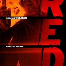 Character poster per Morgan Freeman in Red