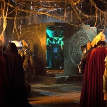 Matt Smith e i suoi nemici in una scena dell'episodio The Big Bang di Doctor Who