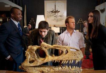 Adrian Grenier, Scott Caan, Adrian Peterson e Taylor Cole  nell'episodio Dramedy di Entourage