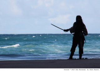 Capitan Jack Sparrow, alias Johnny Depp, in Pirates of the Caribbean: On Stranger Tides