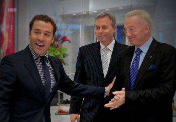 Jeremy Piven insieme ai capi della NFL nell'episodio Buzzed di Entourage