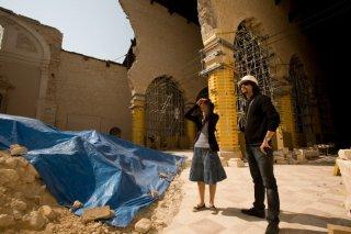 Barbara Ronchi e il regista Giuseppe Tandoi sul set del film La città invisibile