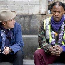 Jamie Foxx e il regista Joe Wright sul set del film The Soloist