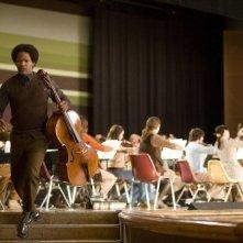 Jamie Foxx in un flashback del film The Soloist