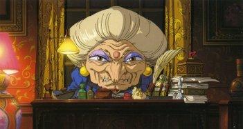 La buffa strega Yubaba in una scena del film d\'animazione La città incantata - Spirited Away