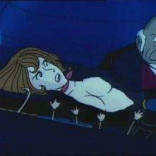 Una celebre scena dell\'episodio Trappola su quattro ruote della serie Le avventure di Lupin