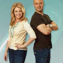 Melissa Joan Hart e Joseph Lawrence in una foto promozionale della serie Melissa & Joey