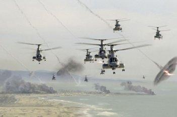 Un'inquietante immagine di Battle: Los Angeles