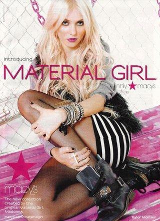 Taylor Momsen testimonial di Material Girl