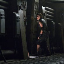 Antje Traue in una sequenza del film Pandorum