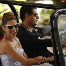 Eva Mendes sul set di the Other Guys