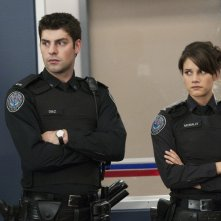 Missy Peregrym e Travis Milne in una scena dell'episodio Honor Role di Rookie Blue