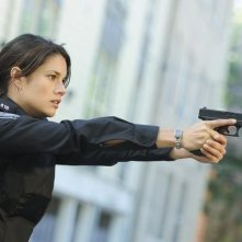Missy Peregrym in una scena dell'episodio Fresh Paint di Rookie Blue