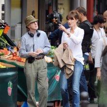 Carla Bruni sul set del nuovo film di Woody Allen