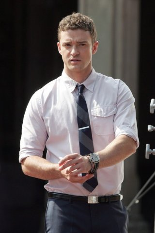 Justin Timberlake durante le riprese di Friends with Benefits