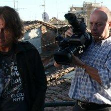 Luciano Ligabue sul set del documentario Niente Paura - Come eravamo, come siamo e le canzoni di Ligabue