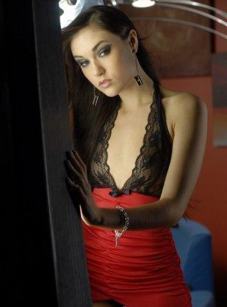 Un'immagine sexy per la bella Sasha Grey