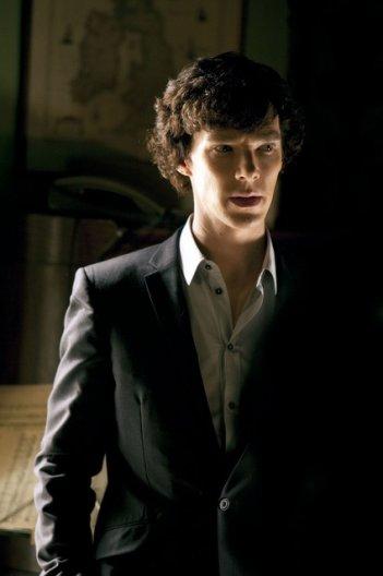 Benedict Cumberbatch nella serie Sherlock