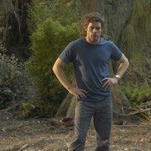 Dexter (Michael C. Hall) in un momento dell'episodio Calma piatta di Dexter