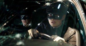 Un'immagine tratta dal film The Green Hornet con Seth Rogen e Jay Chou