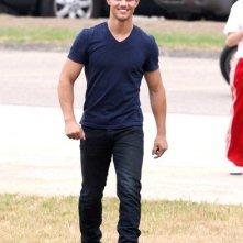 Taylor Lautner sul set di Abduction