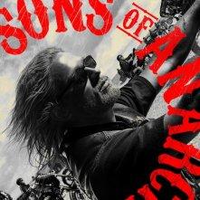 Un poster della stagione 3 di Sons of Anarchy