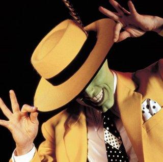 Jim Carrey interpreta The Mask per il film The Mask - da zero a mito