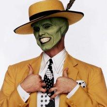 Un'immagine promozionale di Jim Carrey per The Mask - da zero a mito