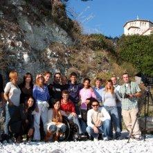 Cast e troupe de La Polinesia sotto casa, nell'ultimo giorno di riprese