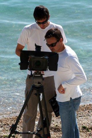 Saverio Smeriglio e Andrea Goroni sul set de La Polinesia è sotto casa