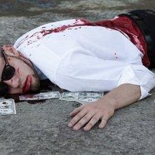 Una sanguinolenta scena del film L.A. Zombie