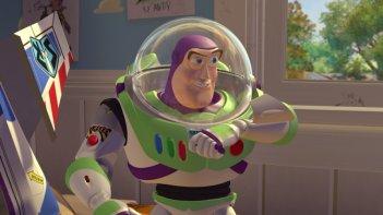 Buzz Lightyear in una scena del film d\'animazione Toy Story
