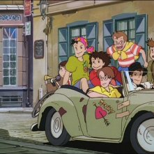 La piccola Kiki in una scena del film d\'animazione Kiki consegne a domicilio