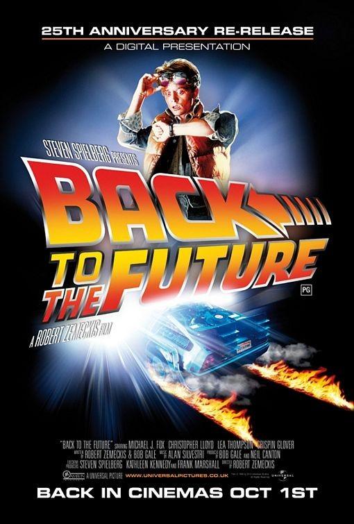 Poster Usa Per La Re Release Del 25 Anniversario Di Back To The Future Ritorno Al Futuro 171527