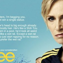 Sue Sylvester (Jane Lynch) supplica i votanti degli Emmy Awards di non far vincere Glee