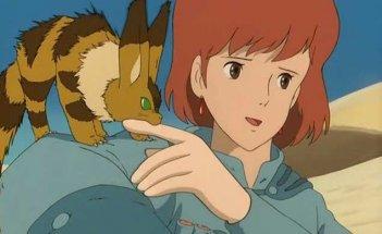 Una scena del film d\'animazione Nausicaa della valle del vento