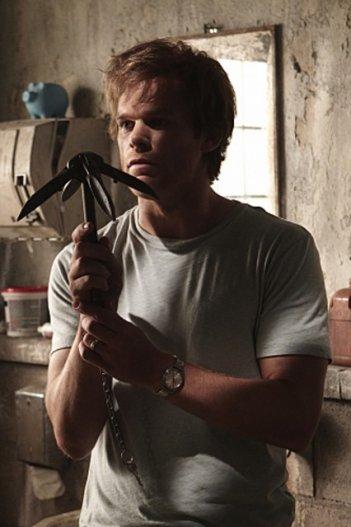 Michael C. Hall in un momento dell'episodio My Bad di Dexter