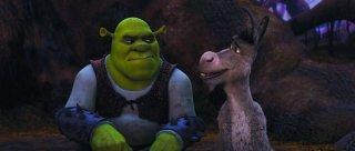 Shrek e l'amico Ciuchino nel film Shrek e vissero felici e contenti