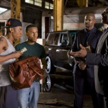 Terry Crews, Keith David, Bow Wow e Brandon T. Jackson nel film Lottery Ticket (2010)