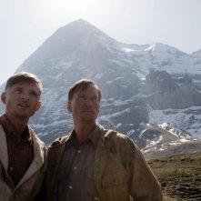 Benno Fürmann e Florian Lukas in una scena del film North Face - Una storia vera