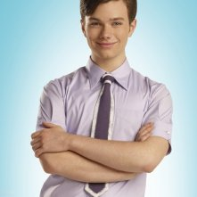 Chris Colfer in una foto promo per la 2 stagione di Glee