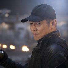 Jet Li in una scena del film The Expendables