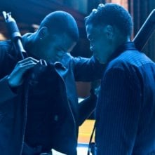 Michael Ealy e Chris Brown in una scena del film Takers