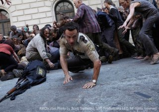 The Walking Dead: un momento della serie AMC