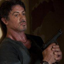 Un'immagine di Sylvester Stallone dal film The Expendables