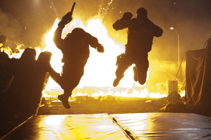 Una Scena Esplosica Del Film The Expendables 172006