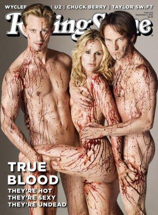 Il trio protagonista di True Blood sulla copertina di Rolling Stone, Settembre 2010