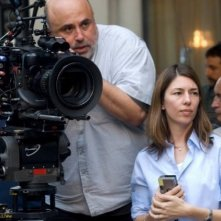 La regista Sofia Coppola sul set del suo Somewhere