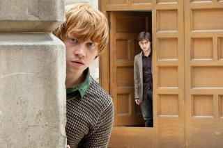 Rupert Grint e Daniel Radcliffe nel film Harry Potter e i Doni della Morte - parte 1